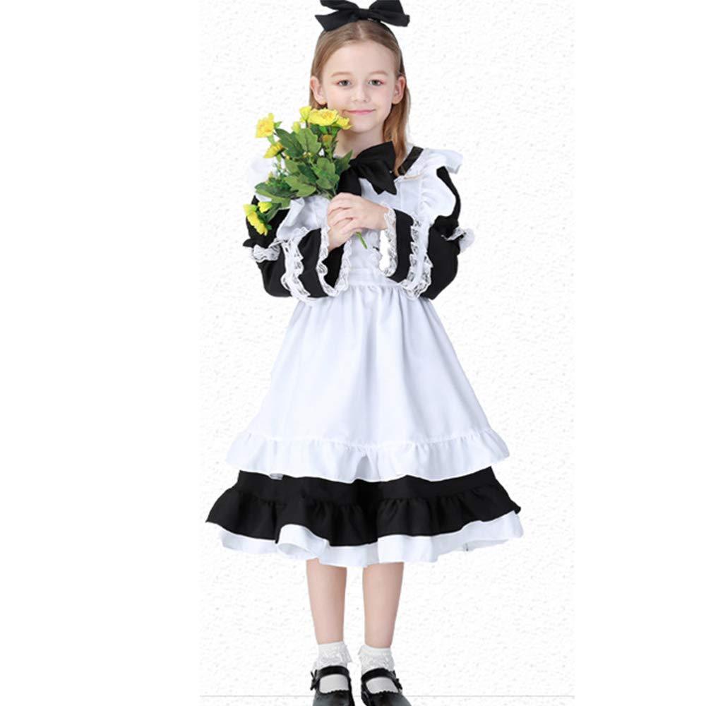 Niña Disfraz Halloween Kids Girls Carnaval Cosplay Sirvienta ...