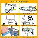 HiHydro 4 Wheel Adjustable Dog Wheelchair Pet