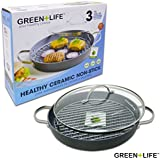 GreenLife Non-Stick Gourmet Hard Anodized Healthy Grill