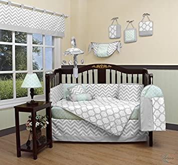Gray Blue Deer Arrows 13pc Crib Bedding Set Baby Boy Nursery Quilt Bumper Diaper