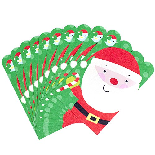 Hallmark Christmas Card Assortment (10 cards, 10 envelopes Santa) Christmas Card Kids