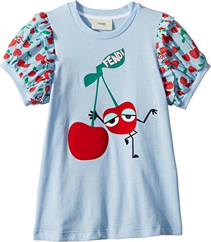 Fendi Kids Baby Girl's Cherry Graphic T-Shirt w/Cherry Sleeves (Toddler) Blue 4 Years by Fendi Kids