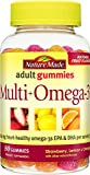 gummy vitamins with omega 3 - Nature Made Multi + Omega-3 Adult Gummies ( 60 mg of DHA & EPA per serving) 80 Ct,(Strawberry, Lemon, and Orange)