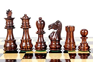 "House of Chess - Rosewood Galaxy Staunton Wooden Chess Set Pieces King size 3"" Triple Weighted"