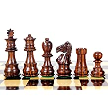 """House of Chess - Rosewood Galaxy Staunton Wooden Chess Set Pieces King size 3"""" Triple Weighted"""