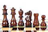 "marble chess pieces House of Chess - Rosewood Galaxy Staunton Wooden Chess Set Pieces King size 3"" Triple Weighted"