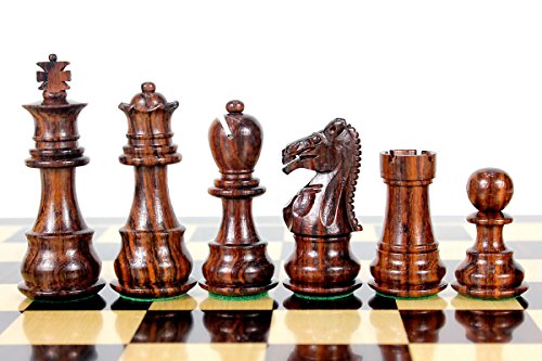 House of Chess - Rosewood Galaxy Staunton Wooden Chess Set Pieces King size 3