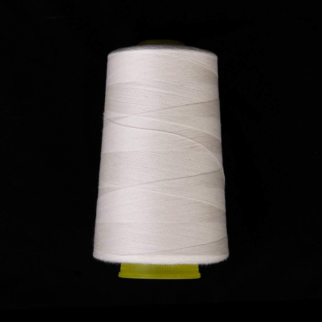 Misc. Maxi-Lock Fil de C/ône Fil en Polyester de Couture de 3000/Bobine de Fil /à Coudre Fil Multifonction pour Machine /à Coudre serger Blanc