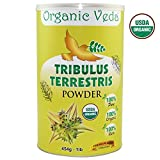 Tribulus Terrestris Powder. 100% Pure and Natural Herbs Raw Organic Super Food Supplement. Non GMO. Gluten FREE. ★ USDA Certified Organic ★ ALL NATURAL! (16 Oz)