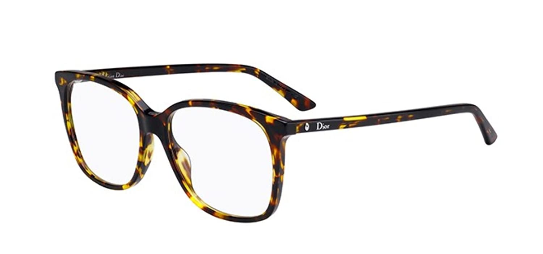 de9abf411 Amazon.com: New Christian Dior Montaigne 55 0P65 Brown Yellow Havana  Eyeglasses: Clothing