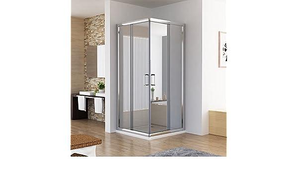 Cabina de ducha ducha puerta corredera entrada por la esquina Nano de vidrio de 90 x 80 x 195 cm: Amazon.es: Bricolaje y herramientas