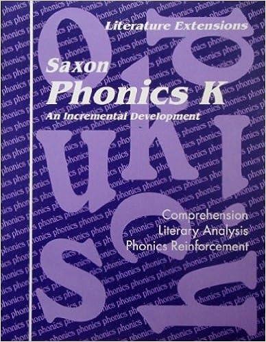 Book Saxon Phonics K An Incremental Development: Literature Extensions