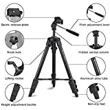 "Fotopro Camera Tripod, 48"" Phone Tripod with 3-Way Head, Smartphone Tripod for iPhone X, Samsung, 1/4'' Screw Travel Tripod with Bluetooth Remote for DSLR Camera, Canon, Sony, Nikon"