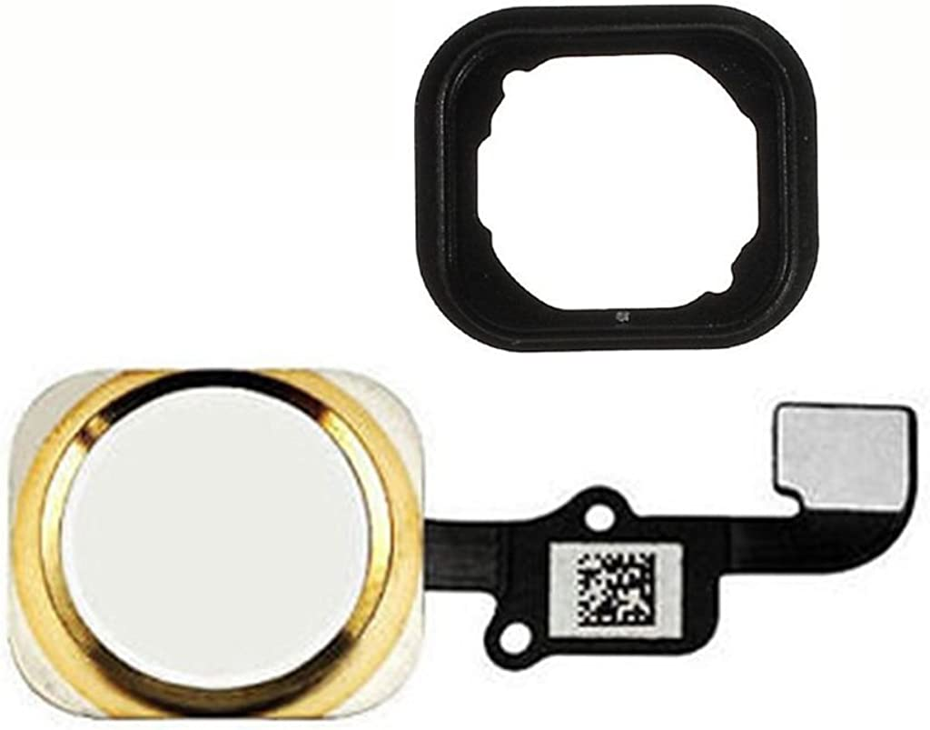 FirefixTM for Iphone 6 and 6 Plus Home button with flex cable and Rubber Gasket assembly (gold)