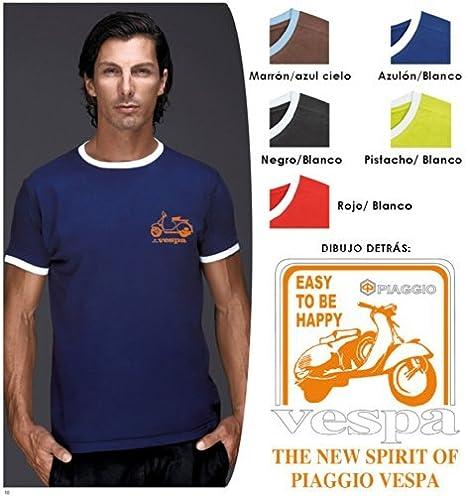 TUCUMAN AVENTURA - Camiseta Vespa Ribete (L, Azul): Amazon.es: Deportes y aire libre