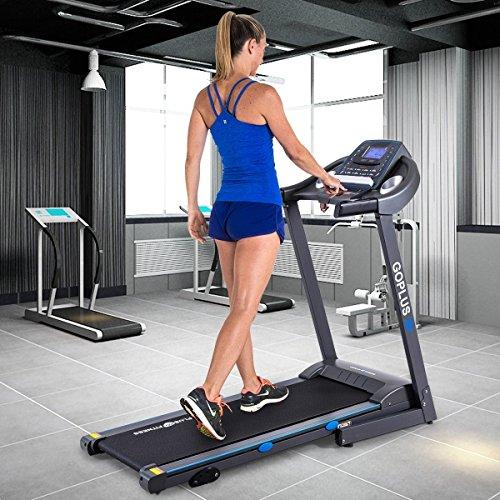 Apontus 2.25HP Folding Treadmill Electric Motorized Power Running Fitness Machine Black