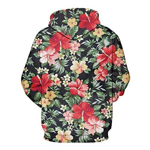 Hoodie 3D, Morbuy Pull fantaisie pour homme Sweat-shirt unisexe pour femme Sweat à capuche avec grosse poche (S/M)