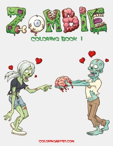 Zombie Coloring Book 1 (Volume -