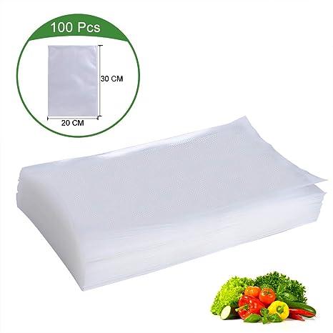 Akzim - Bolsa al vacío para alimentos, 100 unidades, 20 x 30 ...