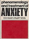 Phenomenology and Treatment of Anxiety, William E. Fann, 0893350702