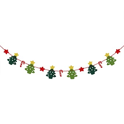 tinksky christmas decoration candy cane christmas tree stars banners bunting garland hanging decoration xmas tree ornaments