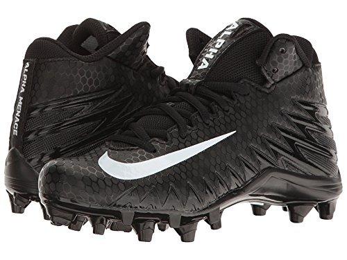 Alpha Menace Varsity Mid BG Boys Baseball Shoe Size 3.5Y Black/White by NIKE