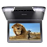 Roverone 11.6 Pouces 1080p Flip Down Voiture moniteur TFT avec HDMI SD USB IR FM Haut-parleur avec écran rotatif Couleur noire
