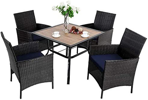 PHI VILLA Patio Dining Set of 5