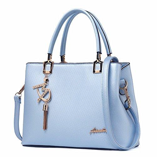 Mujer de Bolso para Bag CCZUIML blanco Azul Mano Crossbody FEwqY