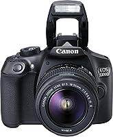 Canon EOS 1300D Kit Fotocamera Reflex Digitale da 18 Megapixel con Obiettivo EF-S IS II 18-55 mm, Wi-Fi, NFC, Versione EU, Nero/Antracite [Versione EU]