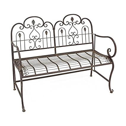Stupendous Piersurplus Provence Metal Folding Garden Bench Seat Warm Brown Cushion Not Included Product Sku Pf223544 Theyellowbook Wood Chair Design Ideas Theyellowbookinfo