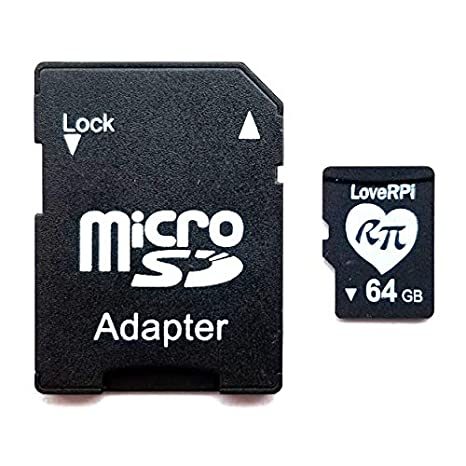 d029f5200a9 Image Unavailable. Image not available for. Color  LoveRPi Plug and Play  Raspbian UHS-I MicroSD Card ...