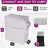 Travel Foot Rest Pillow with Pump, Inflatable