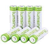 Rechargeable AA Batteries(8-Counts) Lumsing Pre-charged AA 2850mAh Ni-MH Batteries