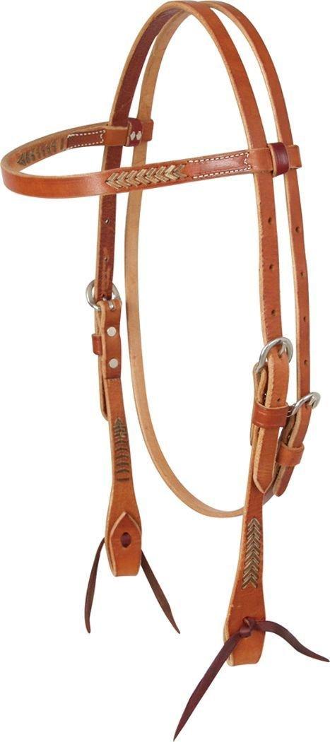 Martin Saddlery Rawhide Lace Browband Headstall   B0065O6GVM