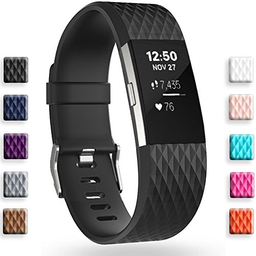 GEAK Fitbit Charge 2 Bands, Special Edition Sports Replacement Bands for Fitbit Charge 2, Large and Small