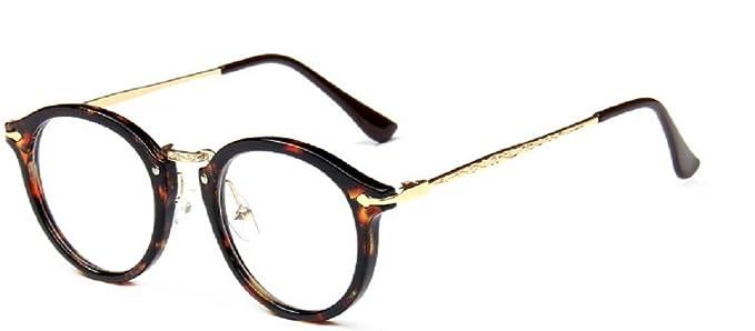 Embryform Retro lunettes rondes frame hommes miroir plaine et les femmes visage religieux sauvages 9580 Marron tvzsmd