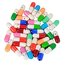 HOUSWEETY 30Pcs Mix Message in a Bottle Capsule Letter Cute Love Friendship Half Color Pill