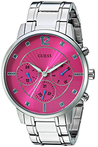 GUESS Women's Quartz Stainless Steel Casual Watch, Color:Silver-Toned (Model: U0941L3)