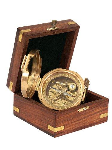 7 opinioni per Trinidad- Bussola in ottone con clinometro, in scatola di legno
