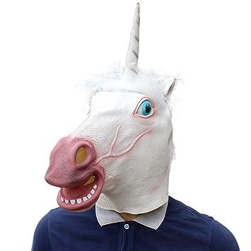 CHRRI Máscara De Látex Animal De Halloween, Accesorios De Estilo De Unicornio Máscara De Cosplay
