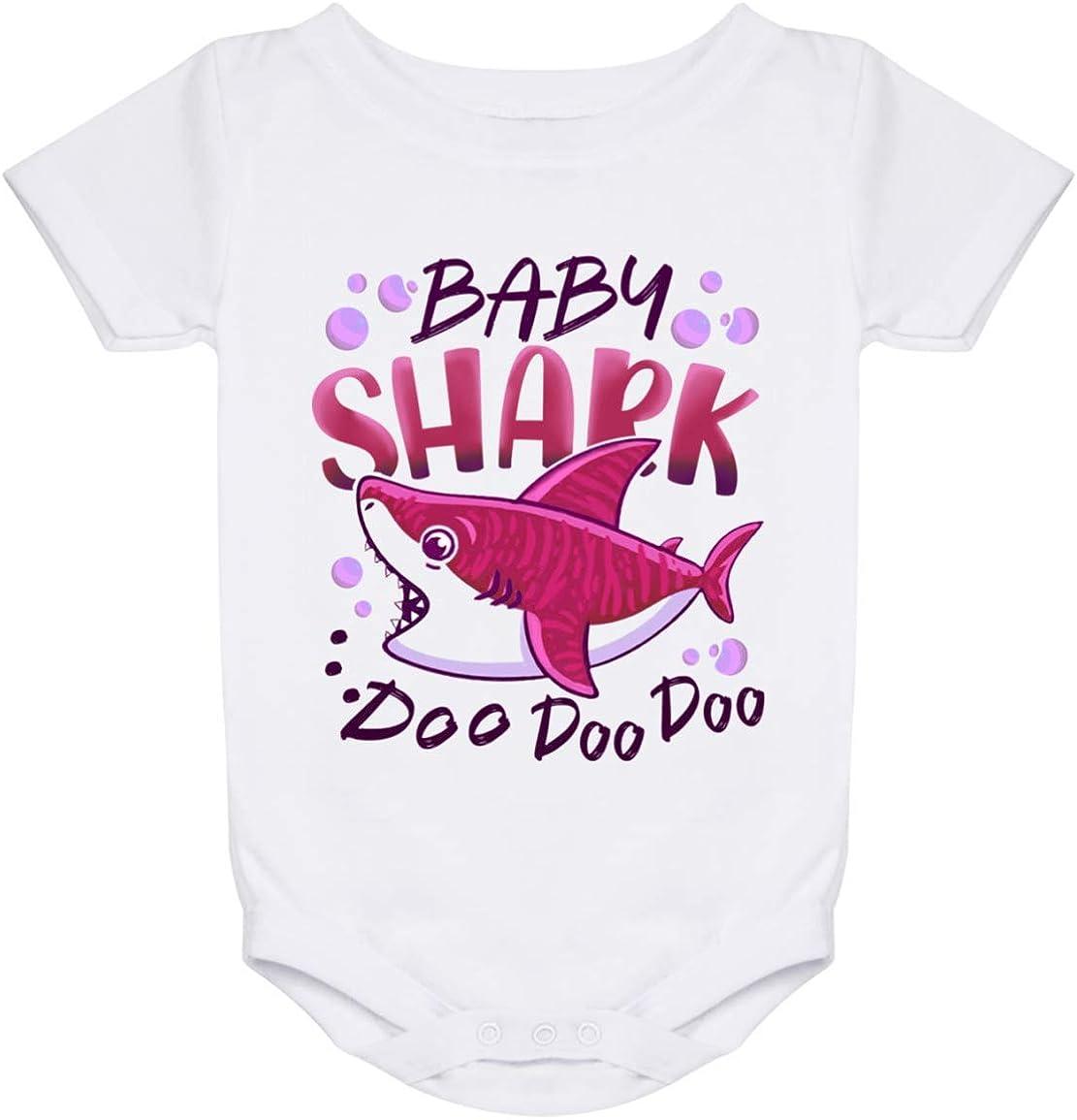 Baby Girl Shark Doo Doo Doo Baby Onesie ? Infant Bodysuit