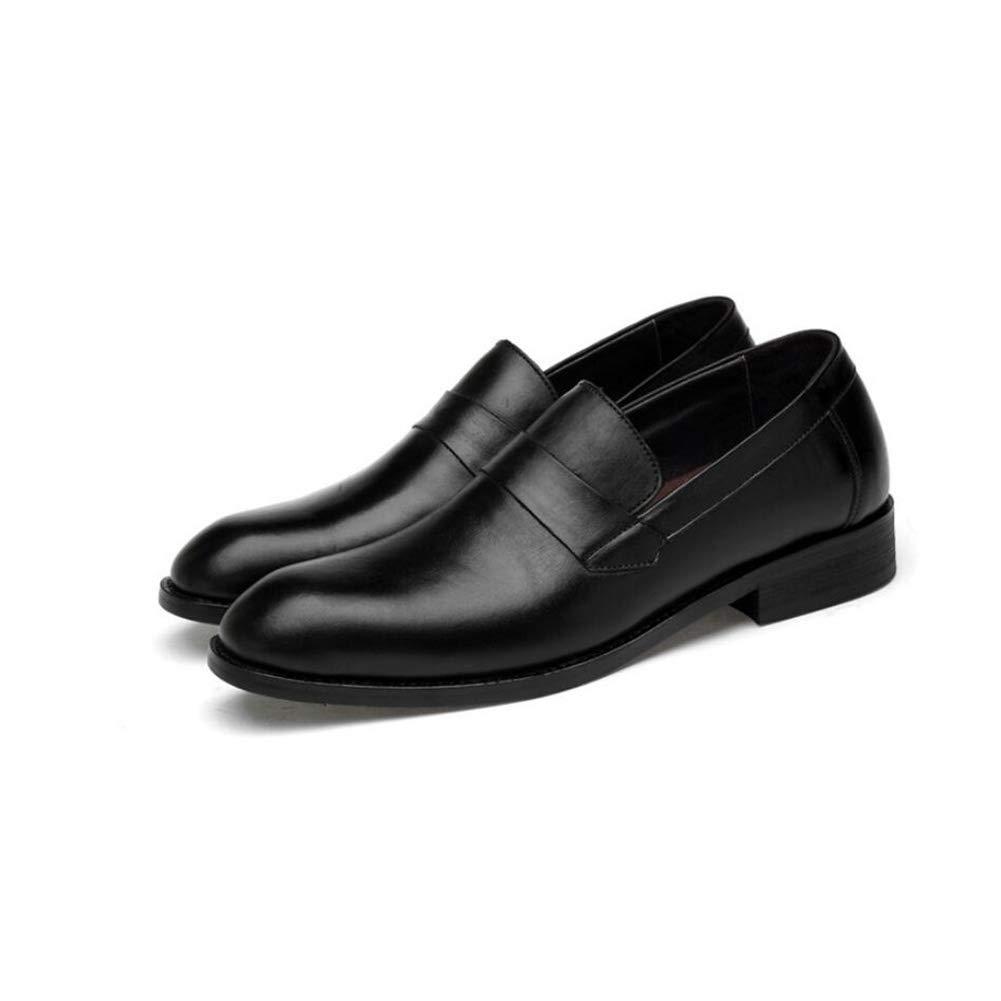 FuweiEncore Herrenschuhe, Casual Casual Casual Business-Lederschuhe, Spitzschuh-Schuhe, Comfort Party Schuhe, Geeignet für 4 Jahreszeiten (Farbe   Schwarz, Größe   41) (Farbe   Schwarz, Größe   39) 7d33f6
