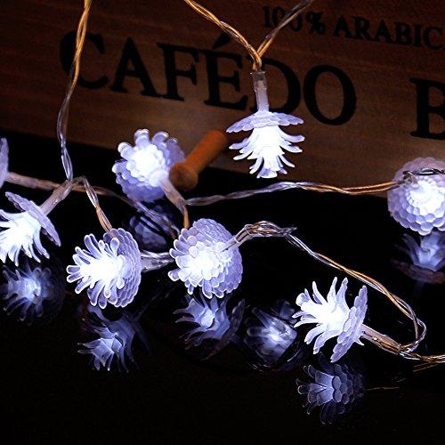 Led Pine Cone Christmas Lights - 8