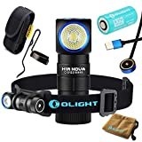 Olight H1R CREE XM-L2 LED 600 Lumens Rechargeable Headlamps with RCR123A Battery and SKYBEN Holster (Neutral White)