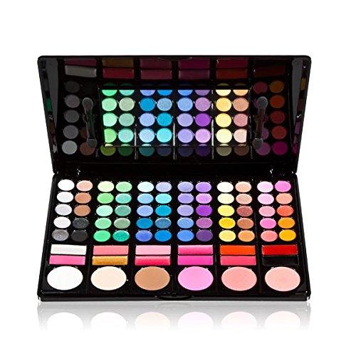 10 opinioni per 78 Colori Tavolozza Palette Set Ombretti + Blush + Lucidalabbra con Specchietto