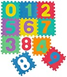 Multicoloured Puzzle Mat for Kids Play Area | Interlocking EVA Foam Mats | Play Rug for children | Puzzle Playmat with Numbers from 0 till 9