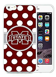 iPhone 6 Plus 5.5 inch Southeastern Conference SEC Football Mississippi State Bulldogs White Screen TPU Phone Case Newest and Popular Cover