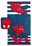 Jay Franco Marvel Spiderman Super Soft & Absorbent Kids 2 Piece Bath Towel & Washcloth Set - Fade Resistant Cotton Terry Towel Set (Official Marvel Product)