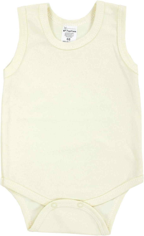 TupTam Baby Girls Bodysuits Sleeveless Plain Pack of 5